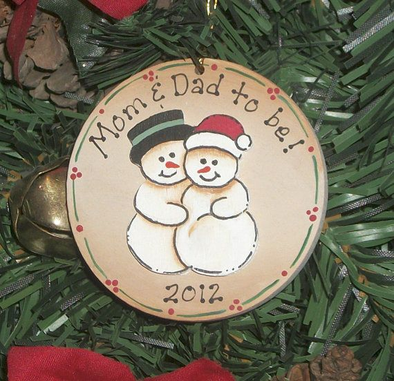 Pregnant Expectant Parents Snowman Couple by TimelessTreasuresbyK, $5.95 - Pregnancy Ornament~ Expecting~ Pregnant Snowman Couple~ Maternity