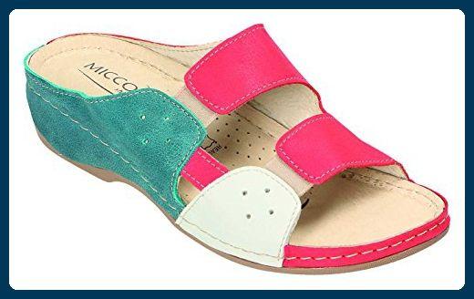 Miccos Shoes Damen Sandalen-Pantolette D.Clog in grün komb., Größe 36.0,