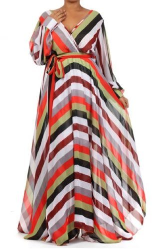 3e1af6cbb2e FULL SWEEP Chiffon MAXI DRESS Wrap SHEER Gown CRUISE Long Skirt Vtg PARTY  Blouse