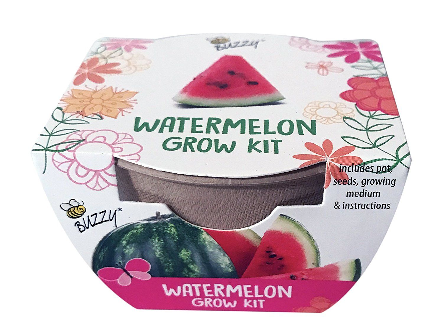 Amazon Com Watermelon Grow Kit Includes Pot Seeds Growing Medium And Instructions Perfect Addition To Any Garden Patio Lawn Garden