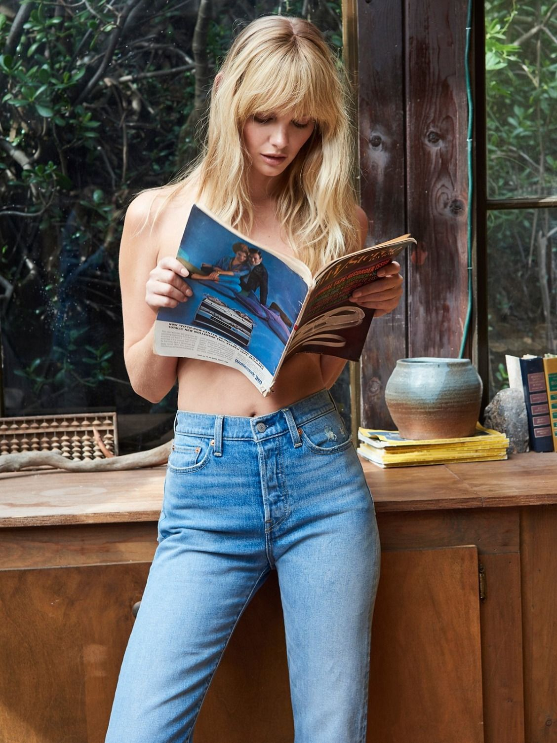 75ae44a84f2 Levi's Wedgie Straight Jean | In Levi's authentic ridged denim, these high-rise  jeans are fitted through the hips and thighs. * Cropped length with a  frayed ...