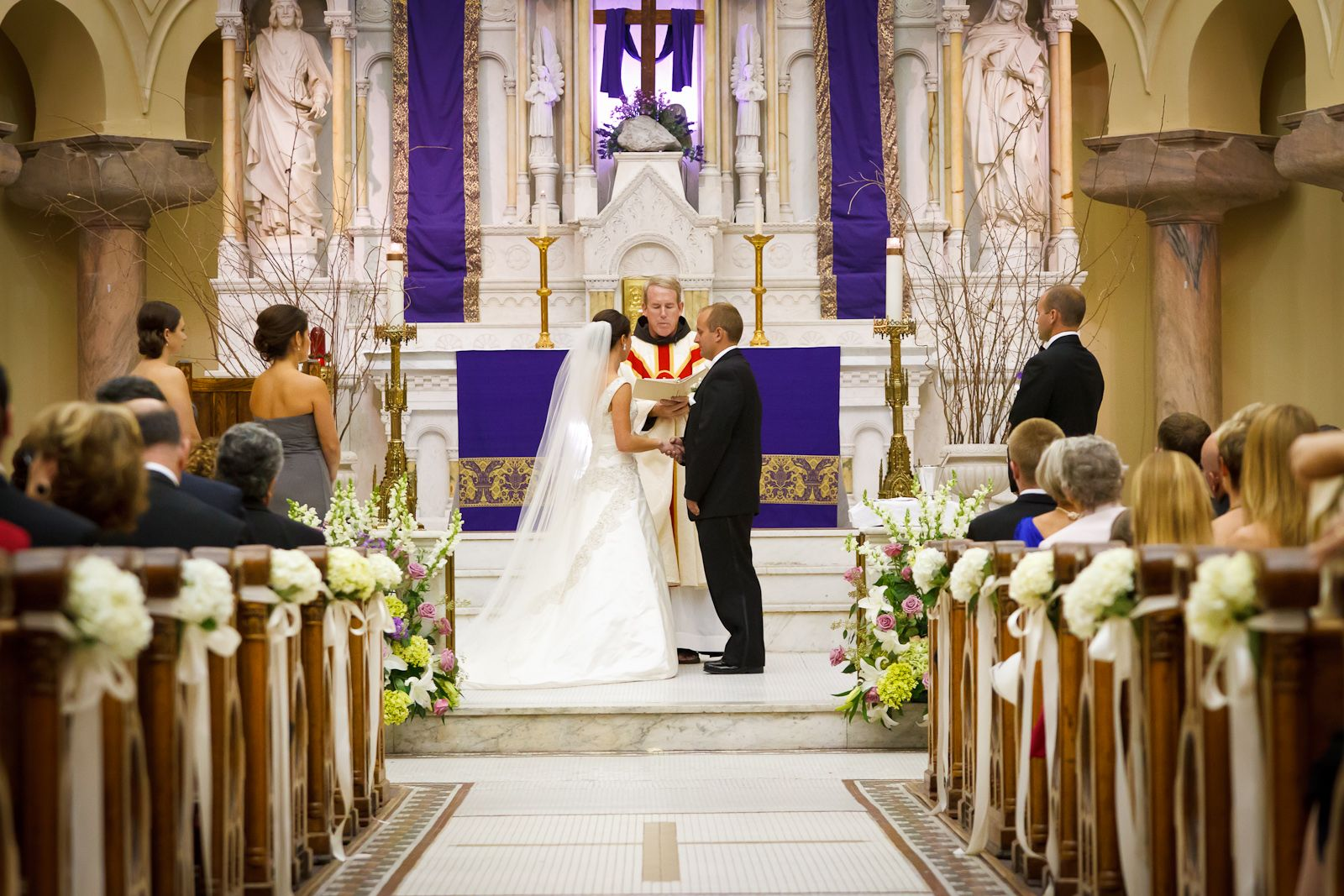 Aisle Flowers By Botanica Wedding Weddingflowers At Sacred Heart Catholic Church Ceremony Tampa Fl