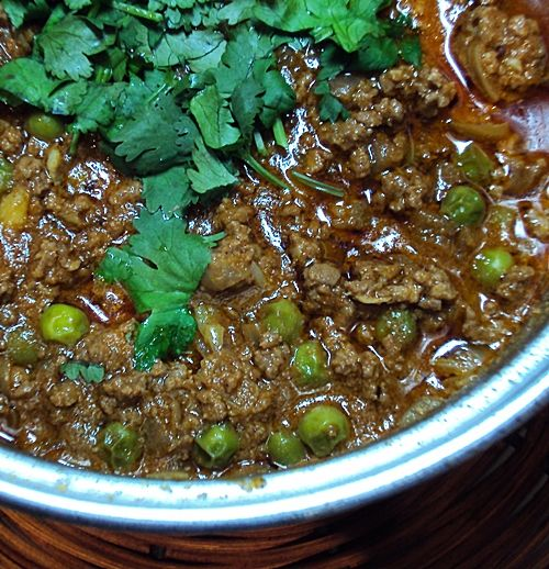 Beef Mince Curry Indian Fried Breads Poori Minced Beef