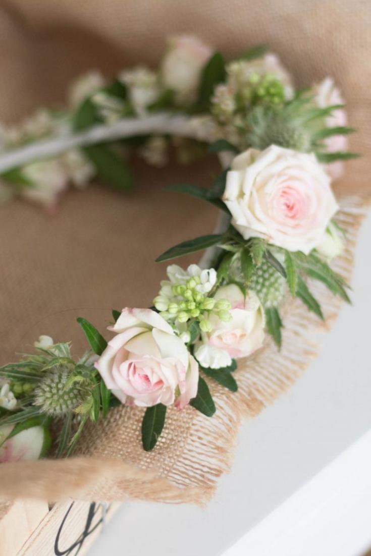 Personnalisé Mariage Fleur Fille Demoiselle D/'honneur Fleurs Charme