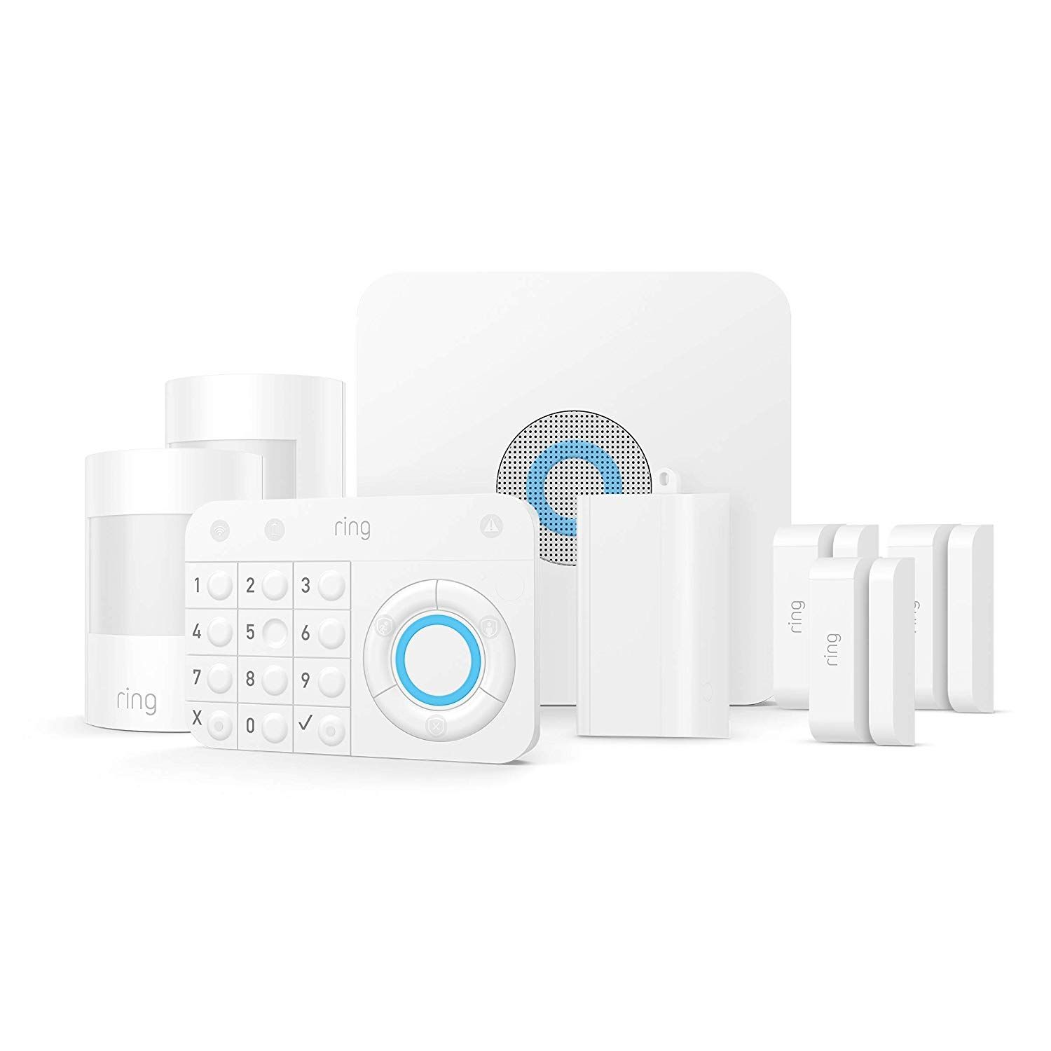 8 Piece Ring Alarm Home Security System Kit On Sale For 188 98 Ring Alarm Puts W Alarm Systems For Home Wireless Home Security Systems Wireless Home Security
