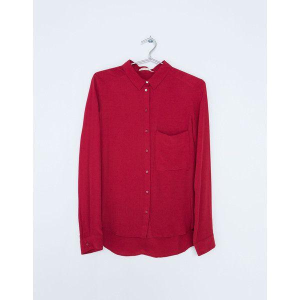 Shirt Bershka met zakje voor ($17) ❤ liked on Polyvore