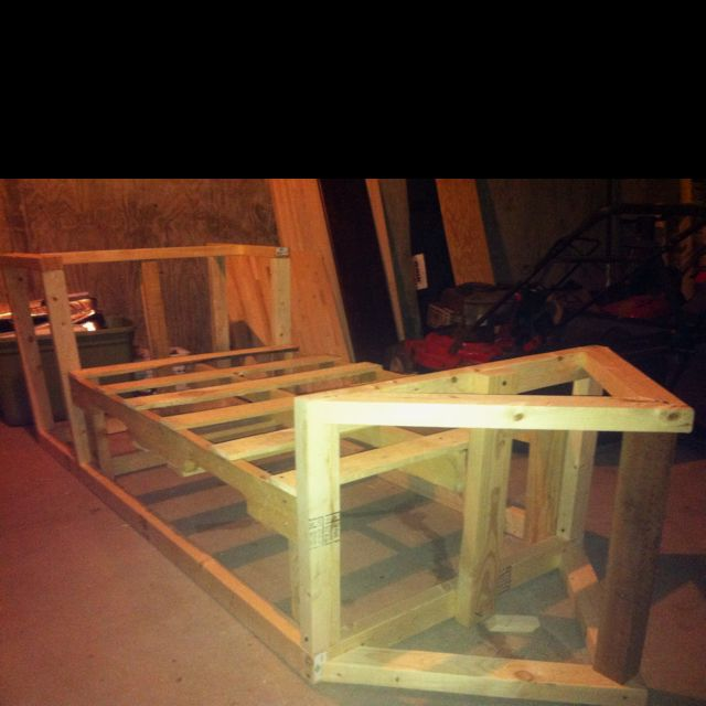 Skeleton Of Mason S Homemade Pirate Ship Bed Should Be Done Soon