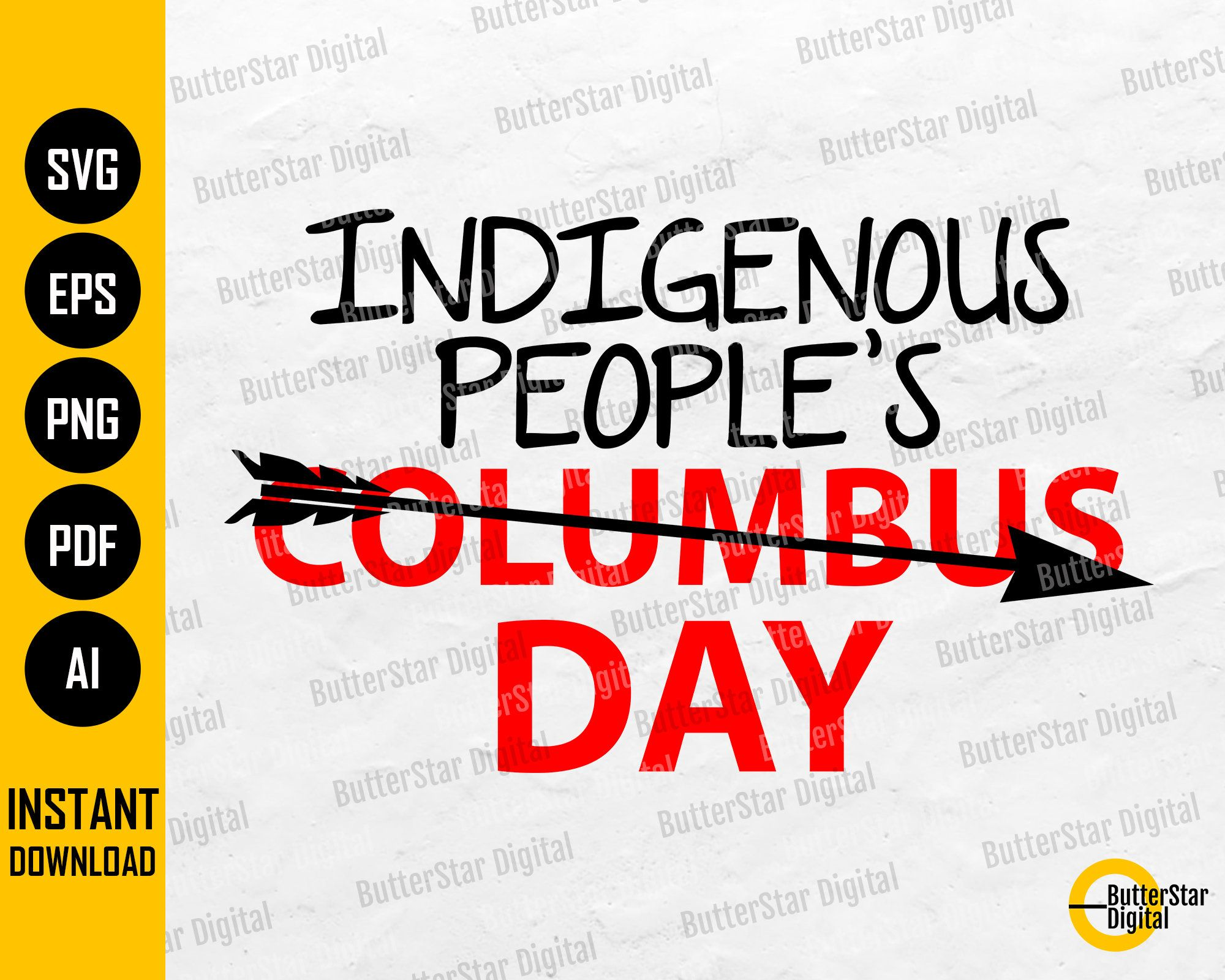 Indigenous People S Day Svg Not Columbus Day Holiday Etsy How To Make Tshirts Gifts Cricut Svg