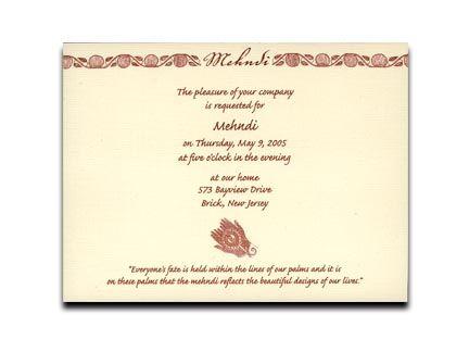 wording for mehndi invitation - Google Search | Wedding Venues ...