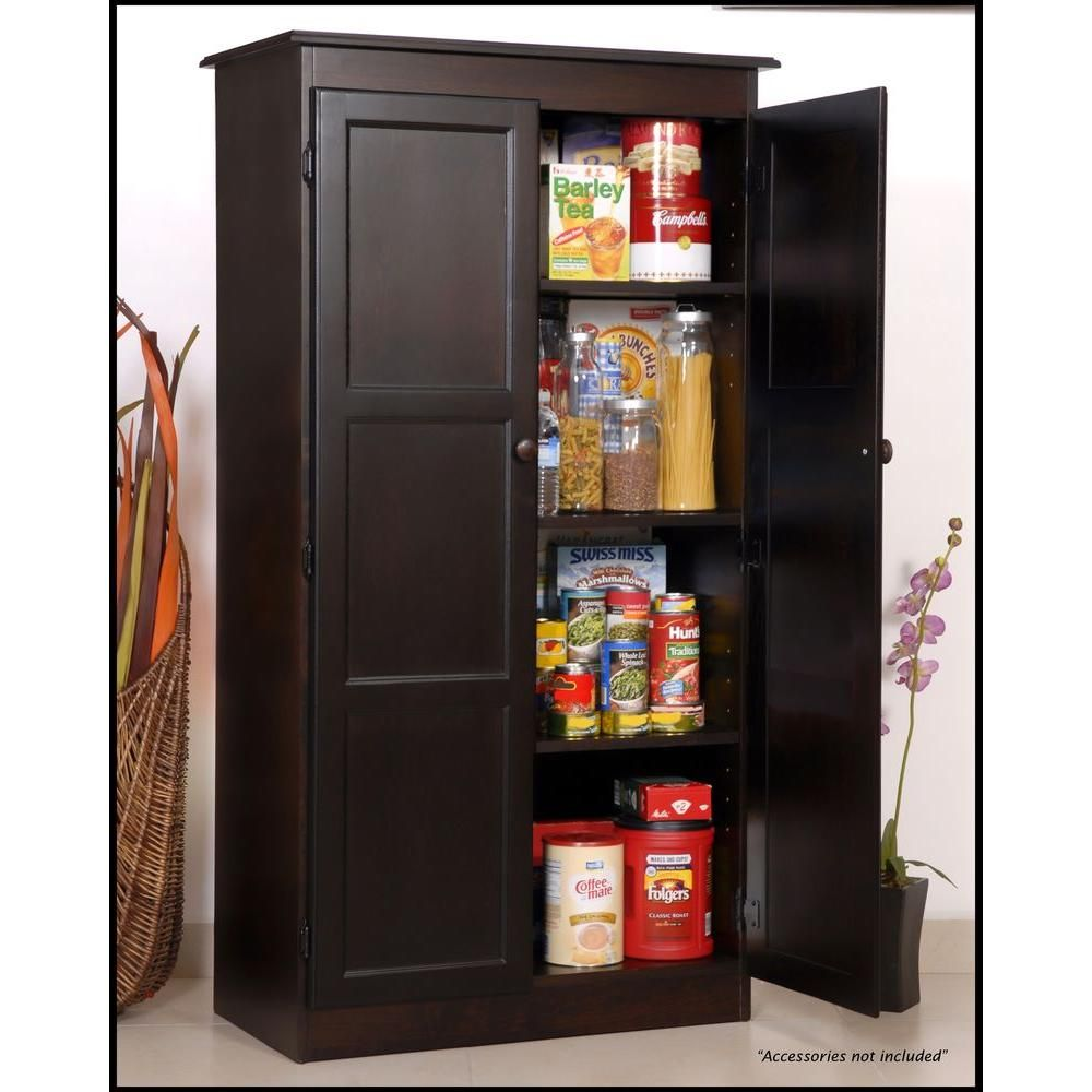 Dining Room Storage Ideas To Keep Your Scheme Clutter Free: Concepts In Wood Multi-Use Storage Pantry In Espresso