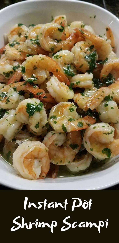 SUPER EASY Instant Pot Shrimp Scampi | Food Dinner Recipes #instantpotrecipeseasy