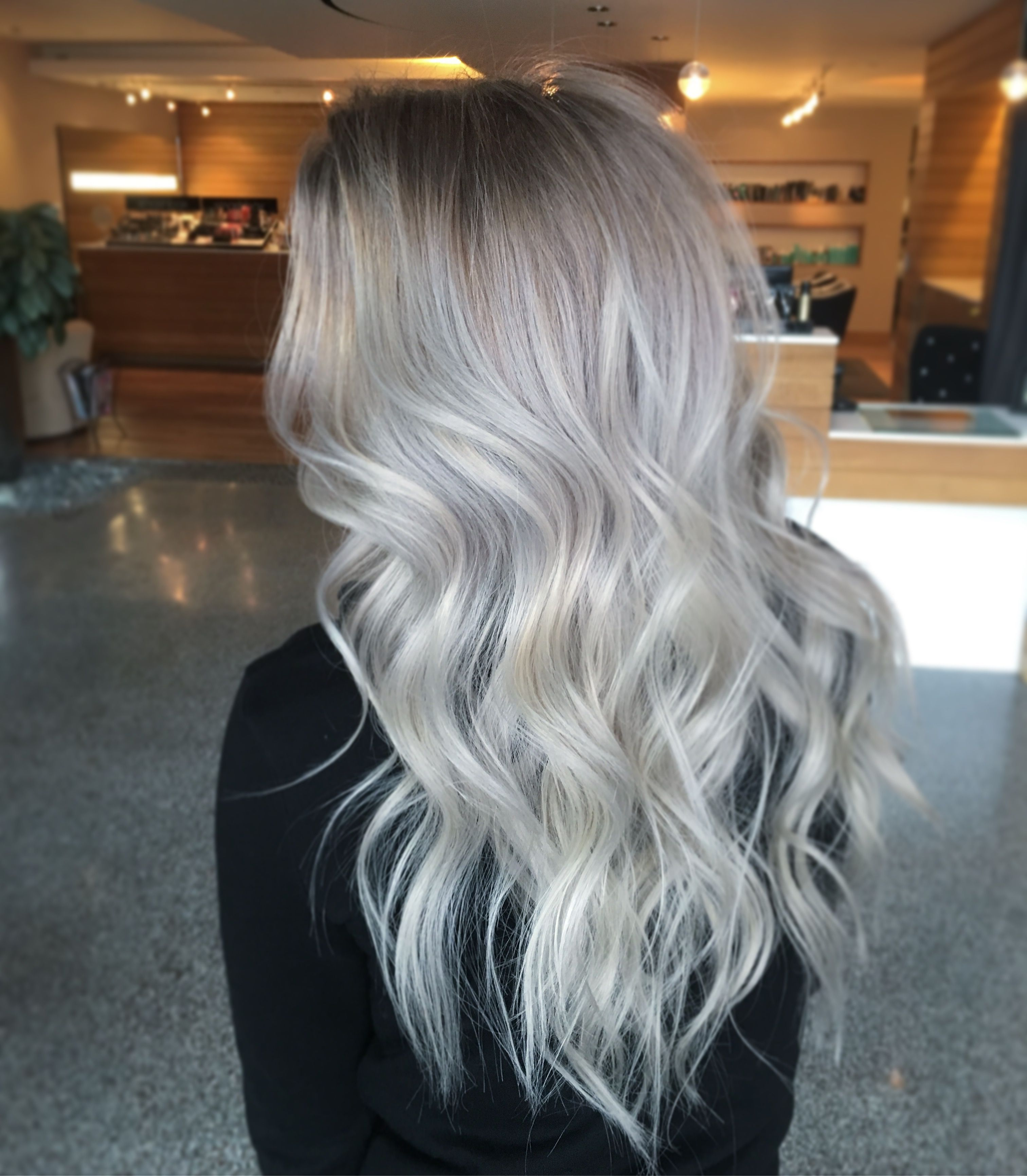 silver blonde hair hair pinterest silver blonde hair blondes and hair coloring. Black Bedroom Furniture Sets. Home Design Ideas