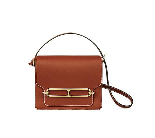 5661c4ed9c9a Roulis 23 Hermes shoulder bag in Evercolor calfskin (size GM) Measures 9.5