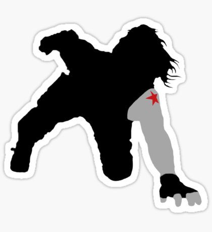 Winter soldier car scene sticker