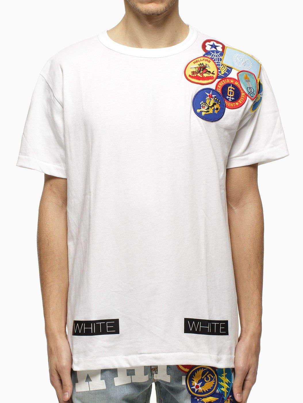 Embroidered Patches T Shirt From The S S2015 Off White C O Virgil