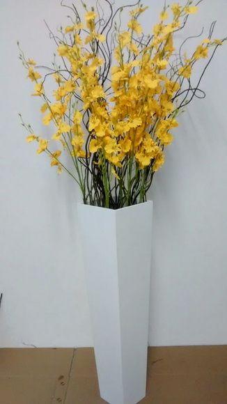 Vaso Chao Mdf Orquideas Artificiais Vasos De Chao Vasos De