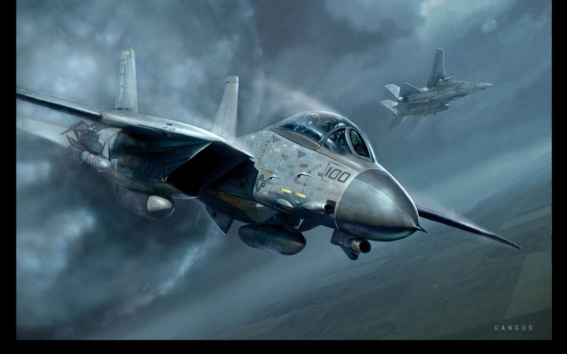 Grumman F14 Tomcat 262081 Airplane Art Aircraft Art Airplane Fighter
