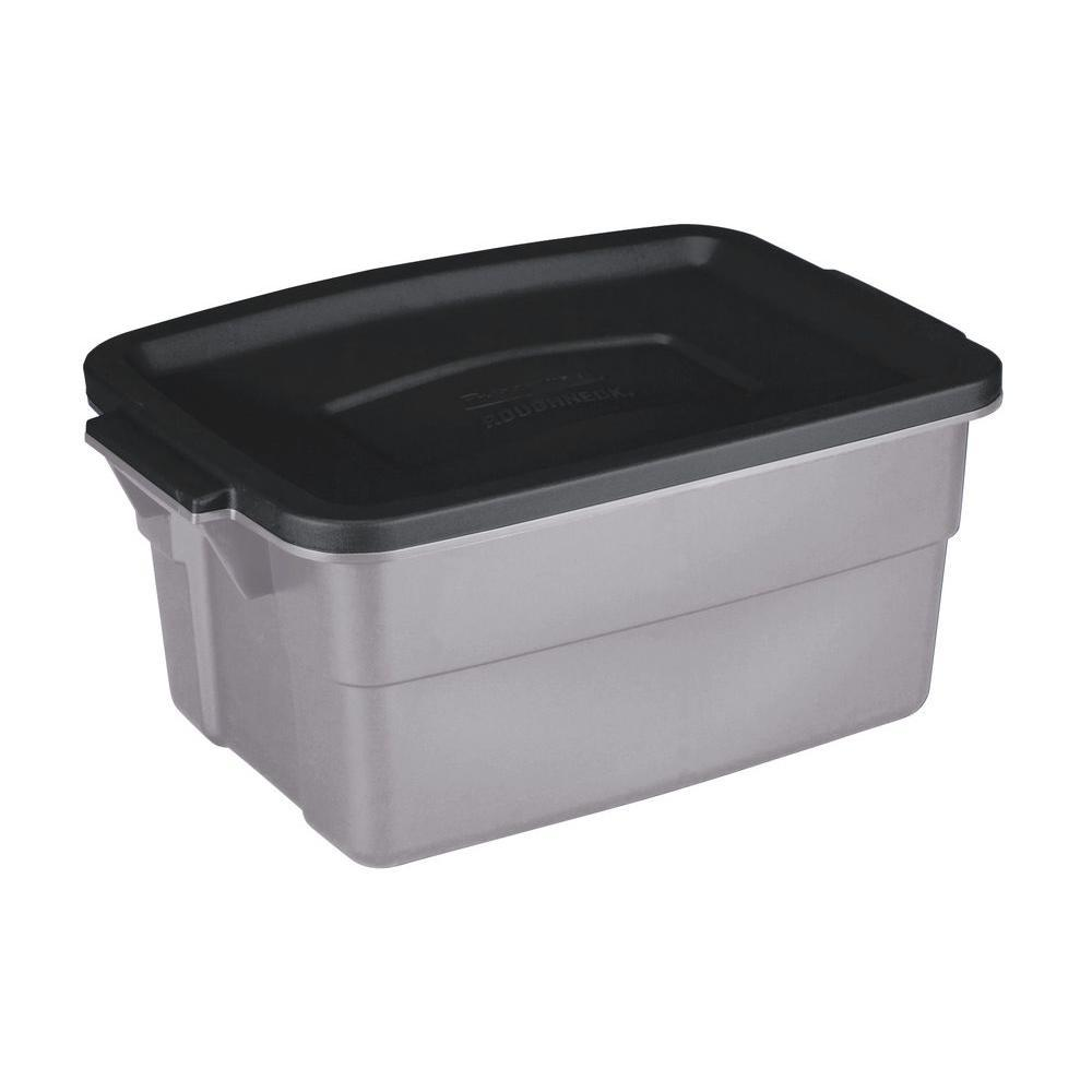 Rubbermaid 3 Gal Roughneck Storage Tote Gray In 2019 Tote