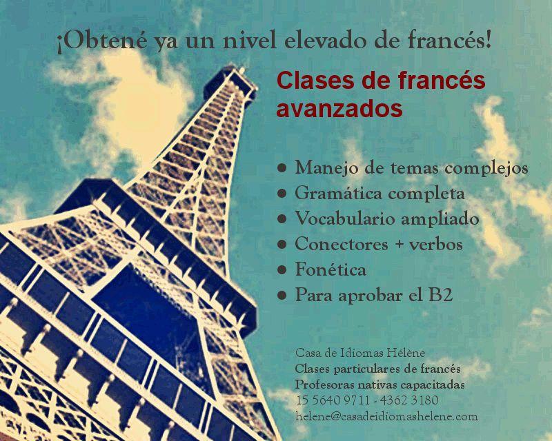 Clases de Francés avanzados Buenos Aires. Profesoras nativas. DELF B2