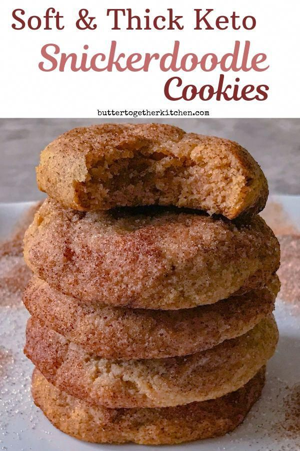 Soft and Thick Keto Snickerdoodle Cookies - These keto cookies do not disappoint! Best tasting snickerdoodle cookies you can make while on a keto diet! |