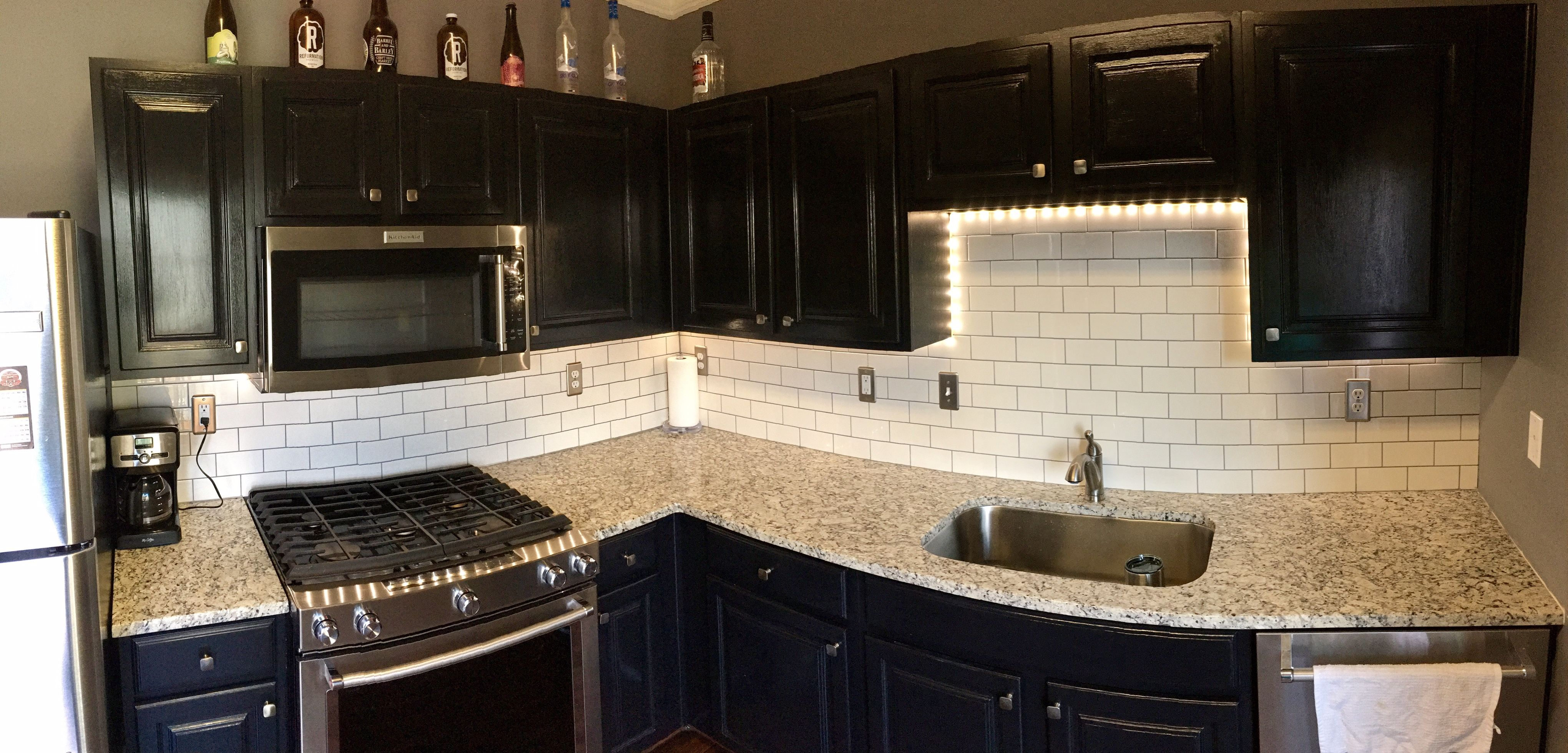 Kitchen renovation cabinet painting tiling and underglow lighting kitchen renovation cabinet painting tiling and underglow lighting diy solutioingenieria Image collections