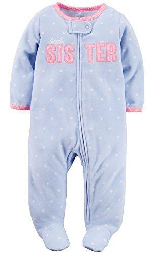dce53b479eab Carter s Toddler Girls  1 Pc Fleece Footed Sleeper Pajamas (3 Months ...