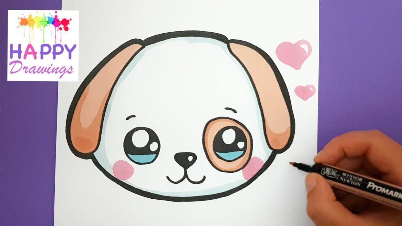How To Draw A Puppy By Dawn Easy Animal Drawings Puppy Drawing