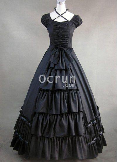Schwarze Gothic viktorianischen Stil Kleider zu verkaufen - Gothic ...