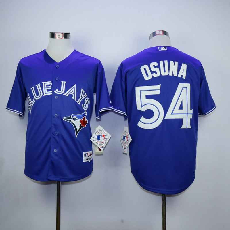 mens toronto blue jays 54 roberto osuna blue cool base jersey
