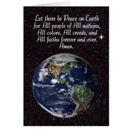 Peace on earth christmas card peace and earth earth m4hsunfo Choice Image