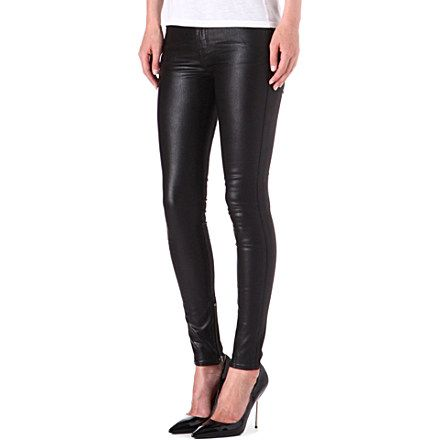 BLK DNM Mid-rise skinny ankle zip jeans (Platt black