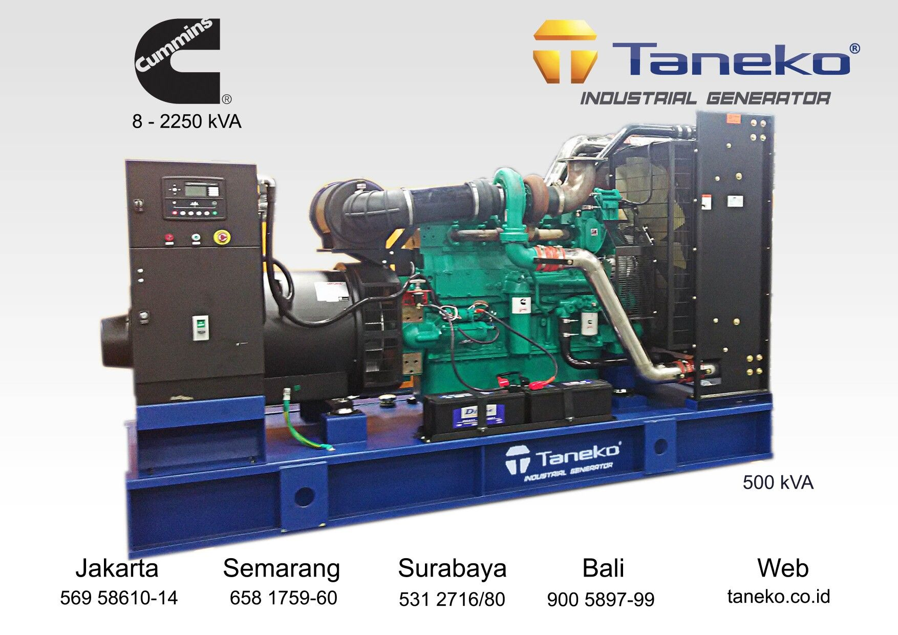 Taneko weeklypost At frame Genset Cummins 500 kVA Open Type
