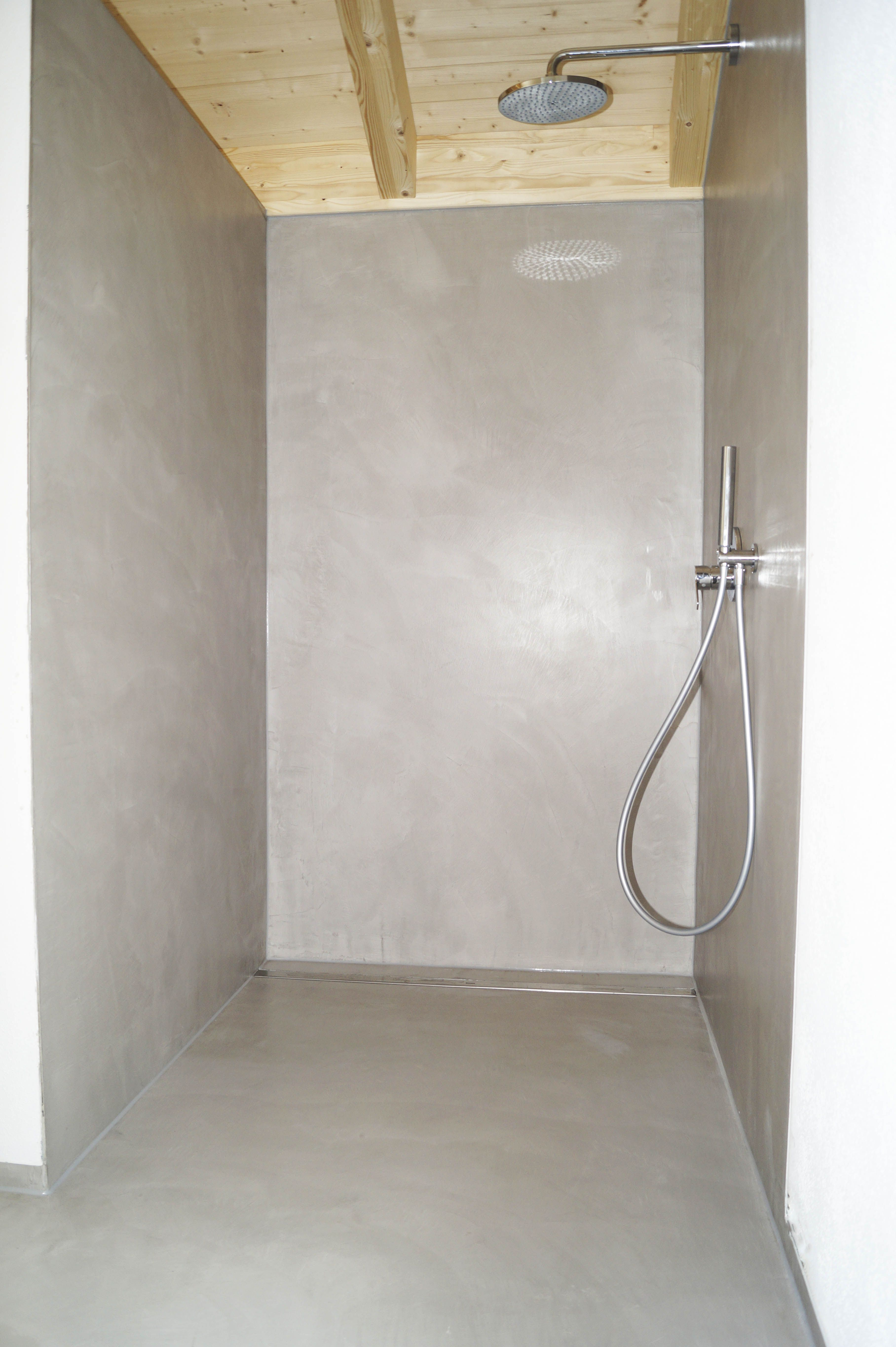 Dusche Gespachtelt Mit Material Basebeton By Fugenlos Modern De In 2020 Badezimmer Bad Renovieren Dusche