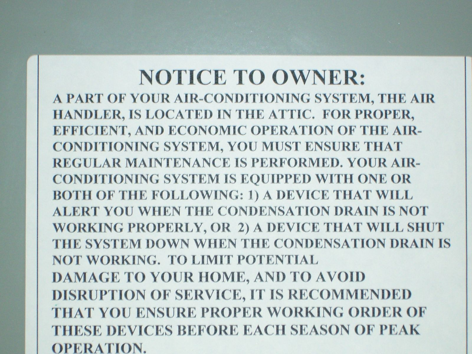 A/C Unit in Attic Beware Air conditioning system, Air