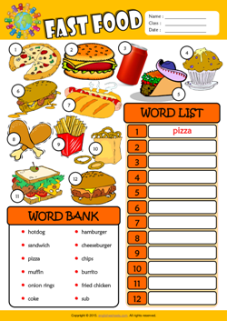 Fast food esl find and write the words worksheet for kids english fast food esl find and write the words worksheet for kids forumfinder Images