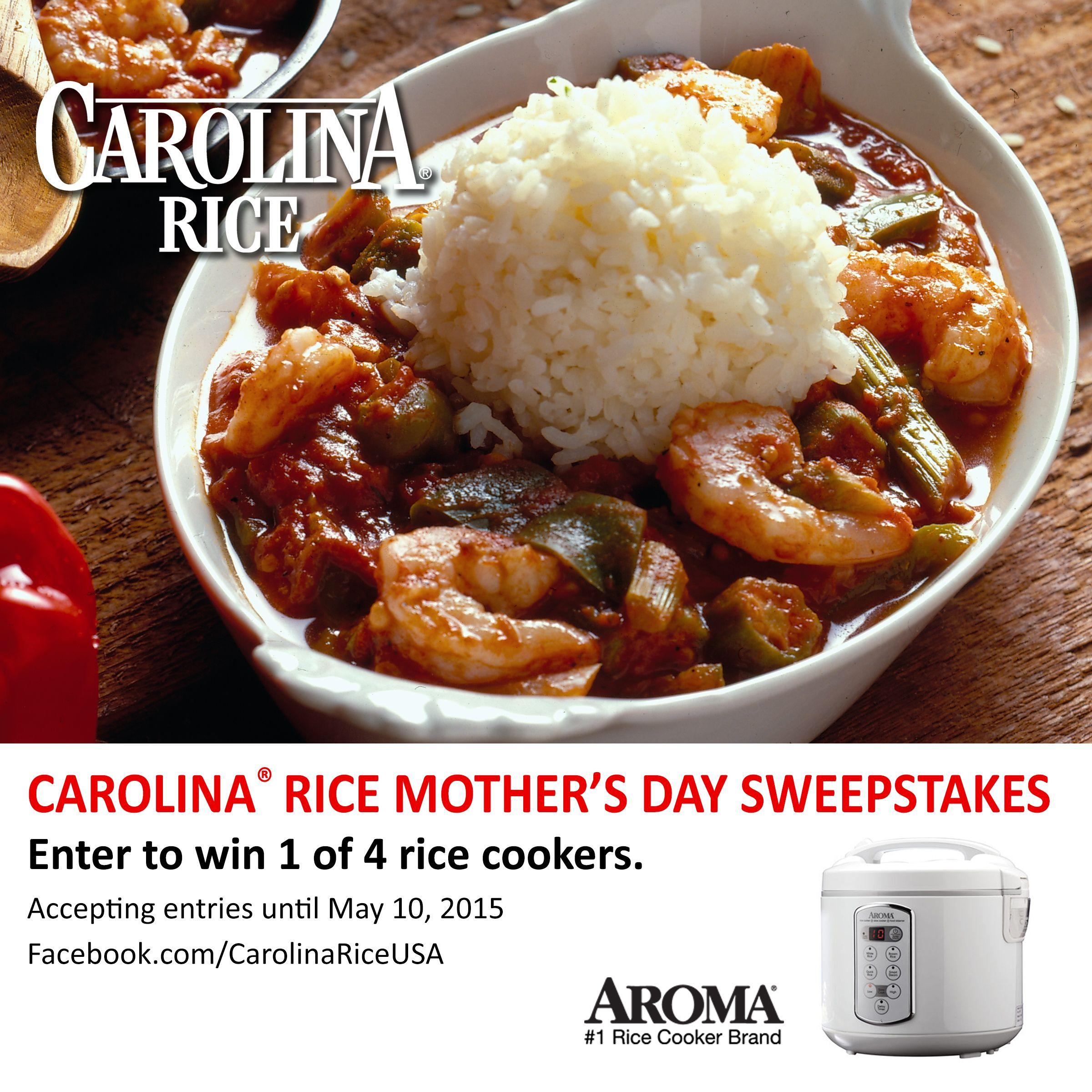 Carolina® Rice Mother's Day Sweepstakes Aroma rice