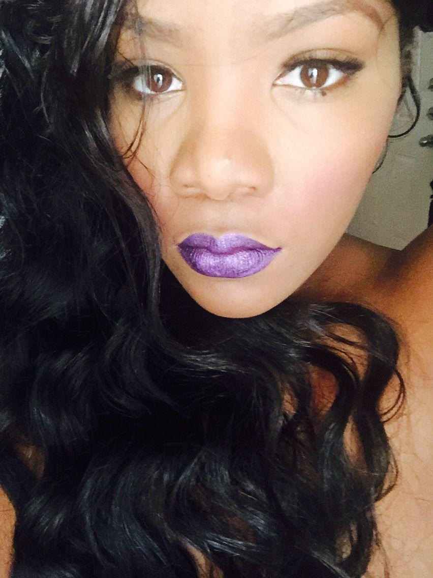 Purple lip fun!