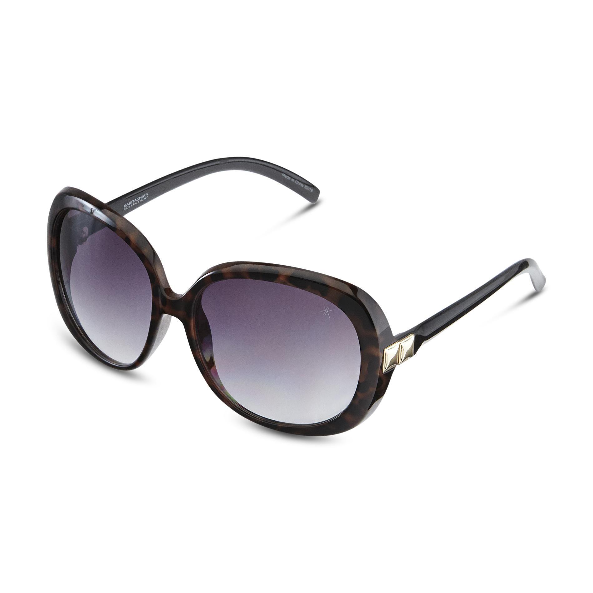 Kardashian Kollection Women's Oversized Vintage Sunglasses -