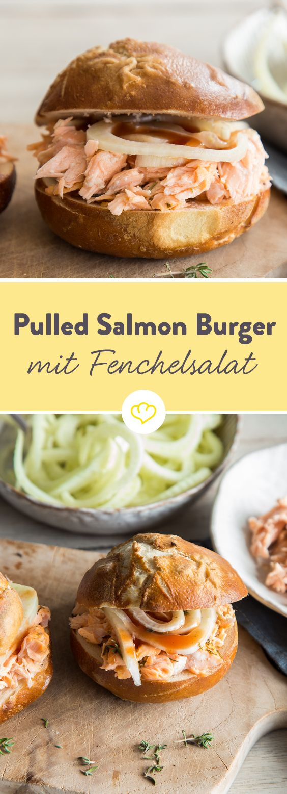 pulled salmon burger mit fenchel dill salat recipe under the sea pinterest burger. Black Bedroom Furniture Sets. Home Design Ideas