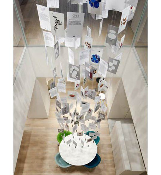 Hanging Holiday Card Display Idea For Seriously High Ceilings