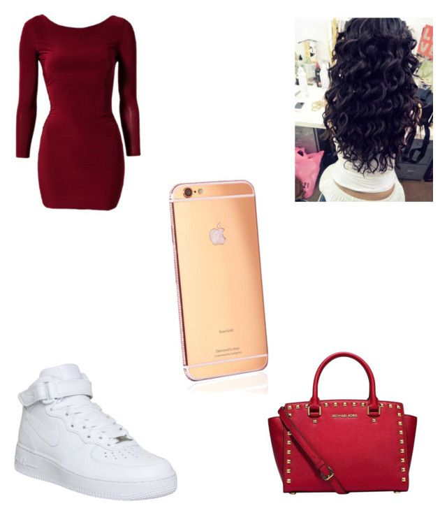 """Untitled #15"" by queenbee256 on Polyvore featuring Club L, Michael Kors, NIKE and Goldgenie"