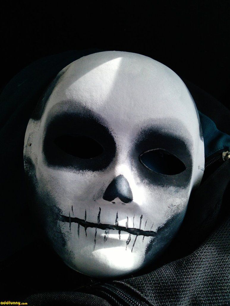 Creepy mask example. We should definitely try some versions where ...
