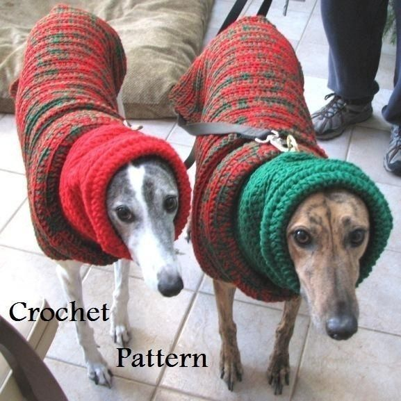 PDF Crochet Pattern for Greyhound Sweater by AandBOriginalsDogs