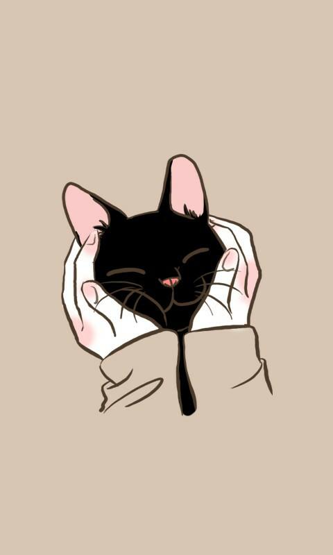 Grafika Odkryte Przez L I A Odkrywaj I Zapisuj Swoje Wlasne Obrazy I Filmy Z We Heart It Kitten Wallpaper Cat Art Cat Wallpaper