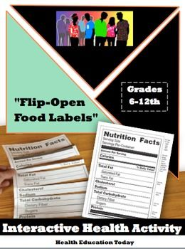 teaching students how to read a nutrition label