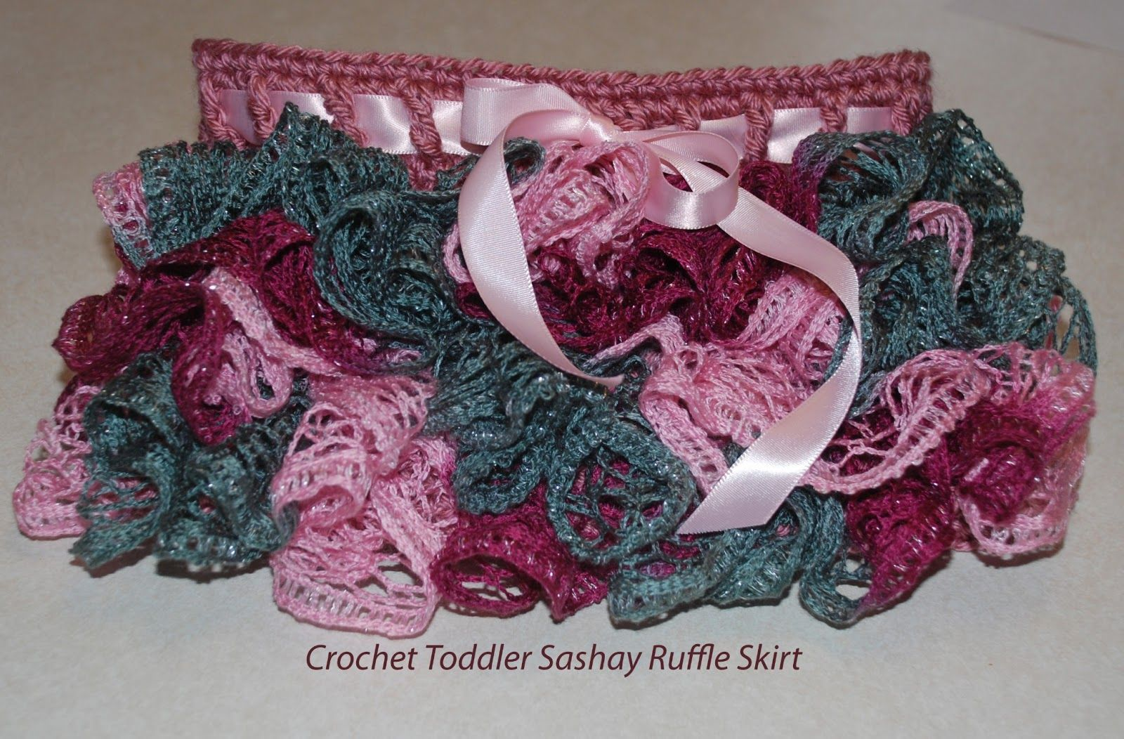 Crochet Sashay Ruffle toddler Skirt. What a clever idea to use ...