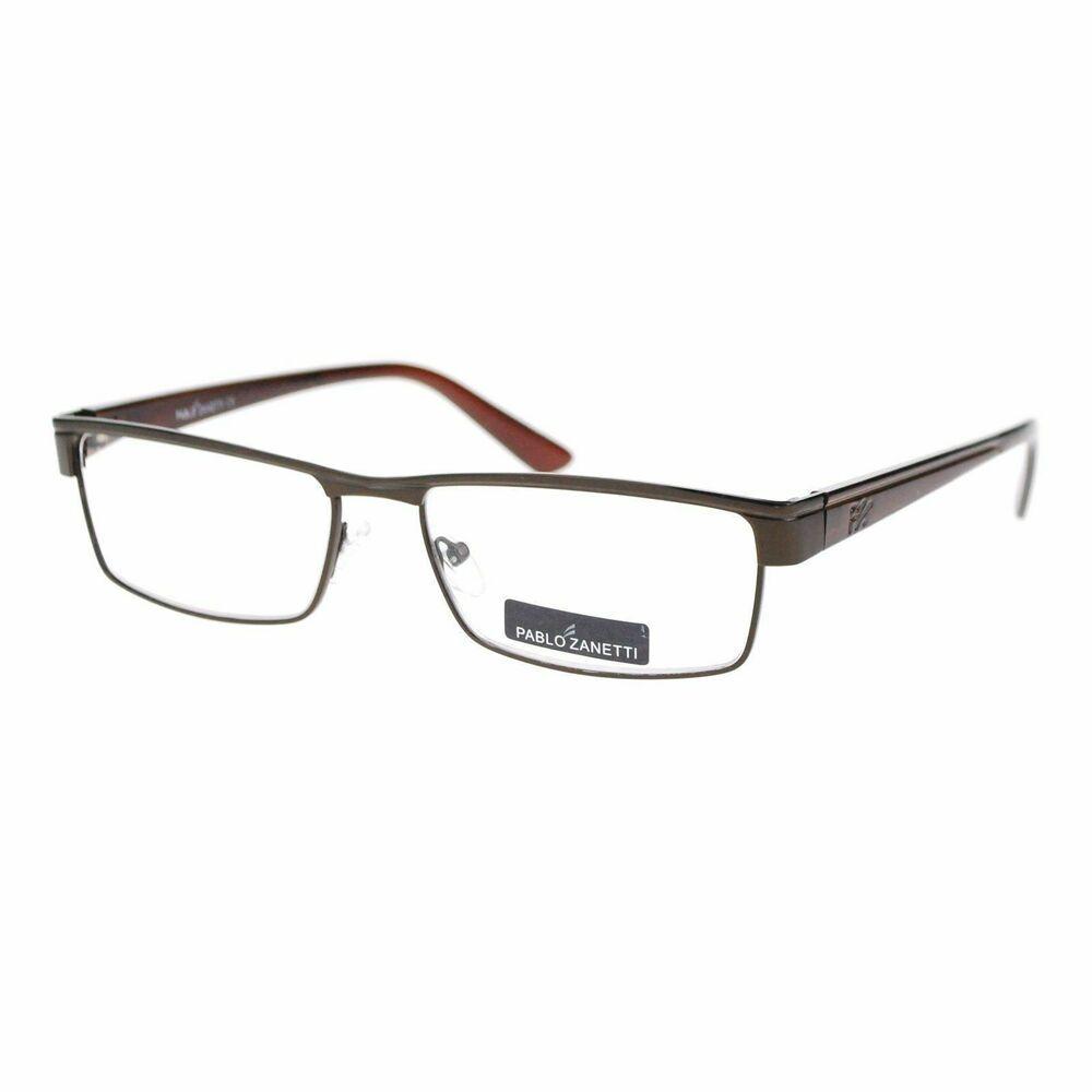 542b6b0e714 Designer Luxury Half Rim Look Metal Frame Rectangular Reading Glasses Brown  1.7  fashion  clothing  shoes  accessories  mensaccessories ...