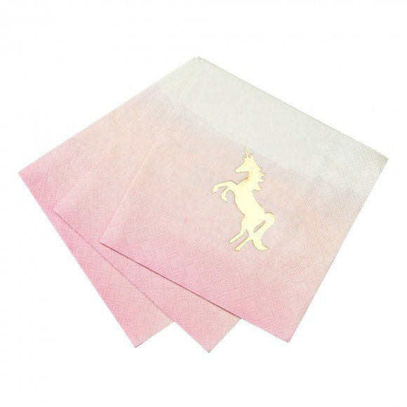 We Love Unicorns Paper Napkins - Set Of 16