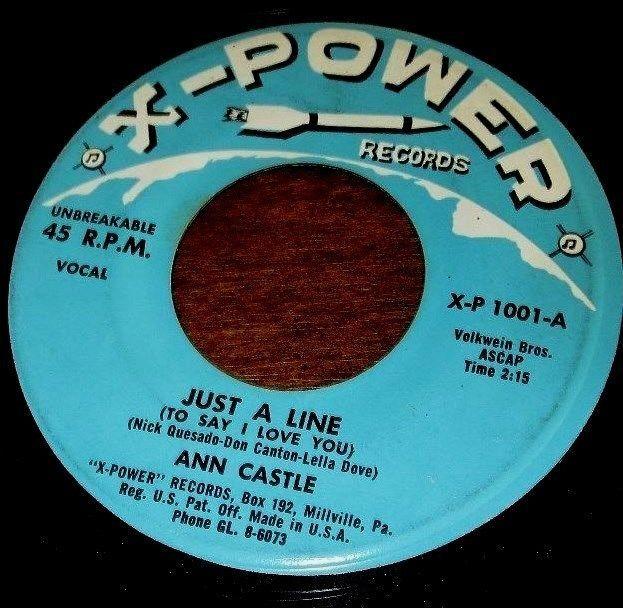 JUST A LINE / GO GET THE SHOTGUN GRAND-PA // ANN CASTLE 1959 45 SINGLE X-P 1001
