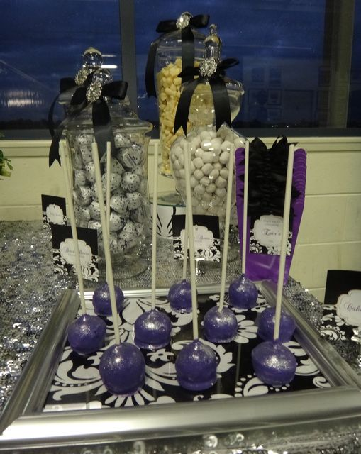 Purple Black White And Silver Birthday Party Ideas 50th